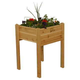 Square Wood Elevated Garden Bed