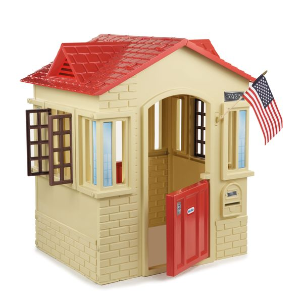 Tan Cape Cottage Playhouse