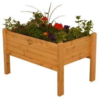 Rectangular Wood Elevated Garden Bed