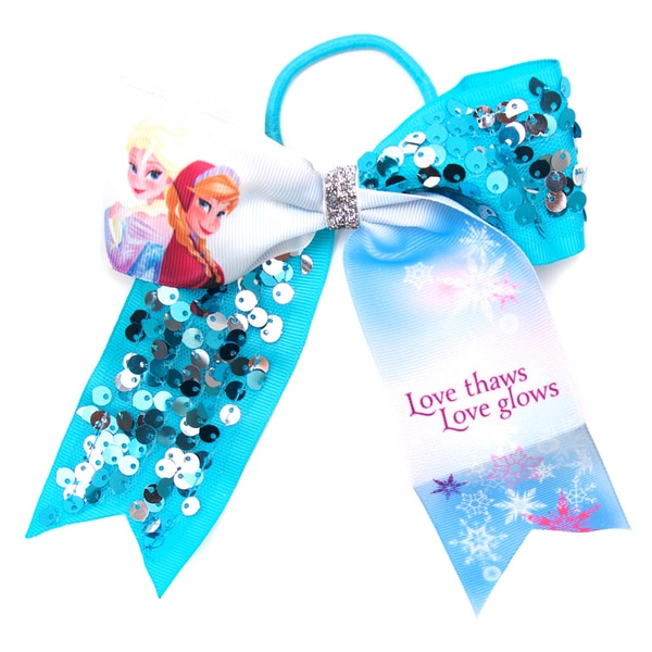 Disney Frozen Anna and Elsa Cheer Bow Elastic