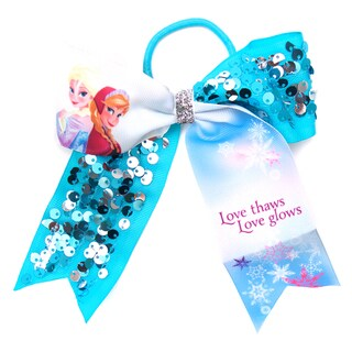 Disney Frozen Anna and Elsa Cheer Bow Elastic