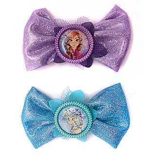 Disney Frozen Girls' 2-Pack Anna and Elsa Bow