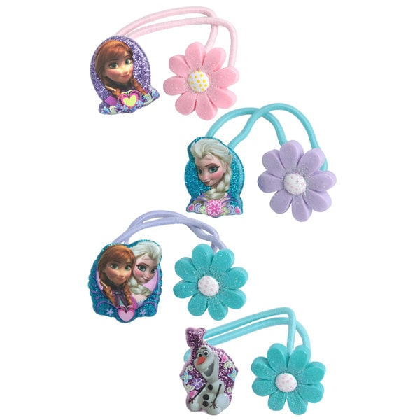 Disney Frozen Elsa and Anna 4-Pack Hair Ties