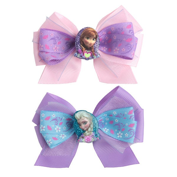 Disney Frozen Girls' 2-Pack Anna and Elsa Leave In Barrettes