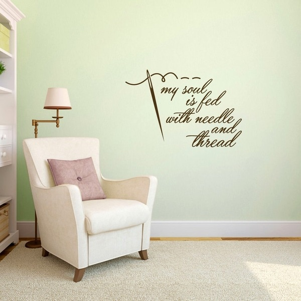 Needle and Thread 36-inch x 24-inch Sewing Wall Decal
