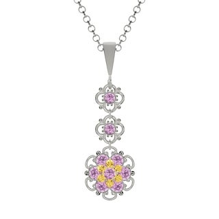 Lucia Costin Sterling Silver Lilac Austrian Crystal Pendant