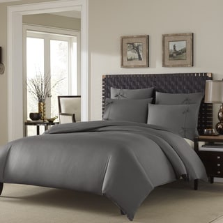 Stone Cottage Winslet Graphite Cotton Sateen 3-piece Duvet Cover Set