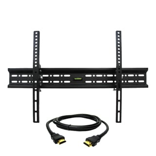 MegaMounts Tilt Wall Mount with Bubble Level for 32-70-inch Displays with HDMI Cable