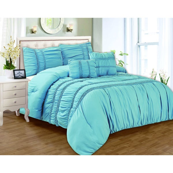 Waldorf Smocked 5-piece Comforter Set