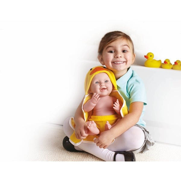 Bubbles and Fun Boy Doll with Duck Towel