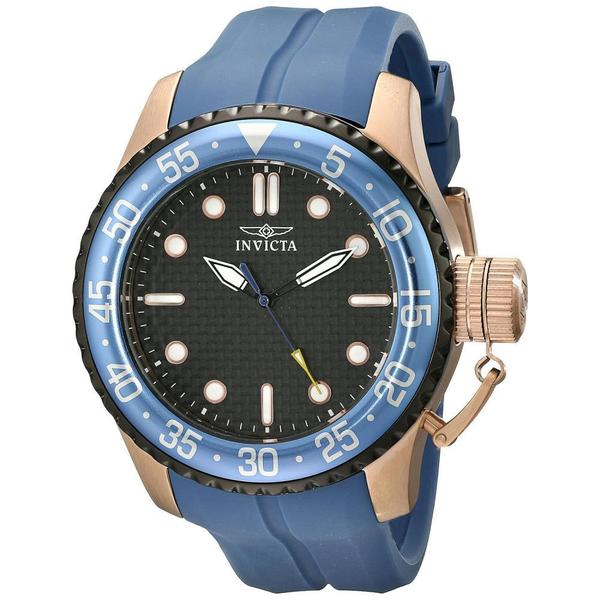 Invicta Men's 17512 'Pro Diver' Japanese Quartz Blue Silicone Strap Watch 16526207