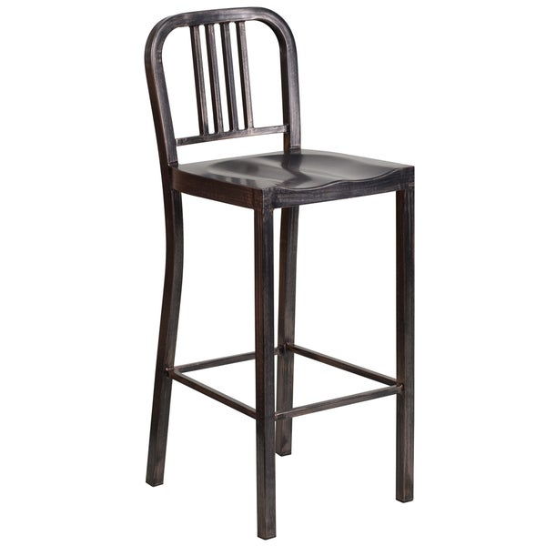 Antique Metal Bar Stool