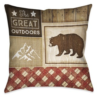 Laural Home Rustic Cabin III Decorative 18-inch Throw Pillow