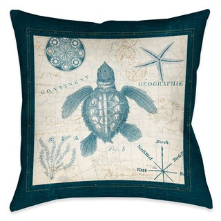 Laural Home Ocean Life Turtle Decorative 18-inch Throw Pillow