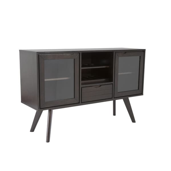 Oswald Black/ Brown Sideboard