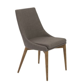Calais Dark Grey/ Walnut Side Chairs (Set of 2)