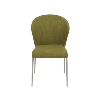 Sy Green/ Brushed Stainless Steel Side Chairs (Set of 4)
