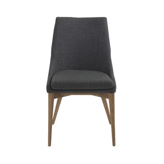 Calais Charcoal/ Walnut Side Chairs (Set of 2)