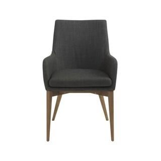 Calais Charcoal/ Walnut Arm Chairs (Set of 2)