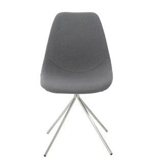 Dax Grey Fabric/ Brushed Stainless Steel Side Chairs (Set of 4)