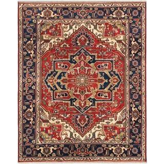 ecarpetgallery Serapi Heritage Brown Wool Rug (8' x 10')