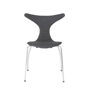 Frida Dark Grey Fabric/ Chrome Side Chairs (Set of 4)