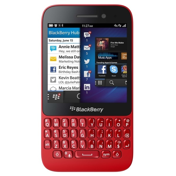Blackberry Q5 SQR100-2 8GB Unlocked GSM 4G LTE Dual-Core OS 10.2 Cell Phone - Red (Refurbished)