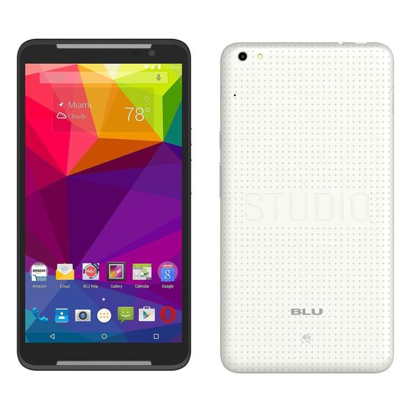 BLU Studio 7.0 LTE 16GB Unlocked GSM Dual-SIM Quad-Core Android Cell Phone - White