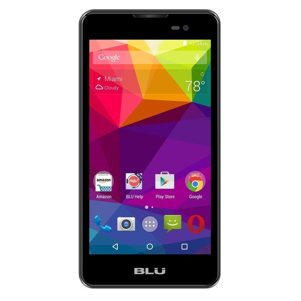 BLU Dash M D030U Unlocked GSM Dual-SIM Android Quad-Core Cell Phone - Black