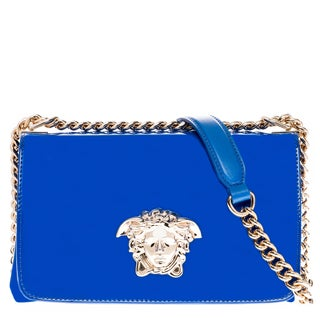 Versace Medusa Patent Leather Shoulder Bag