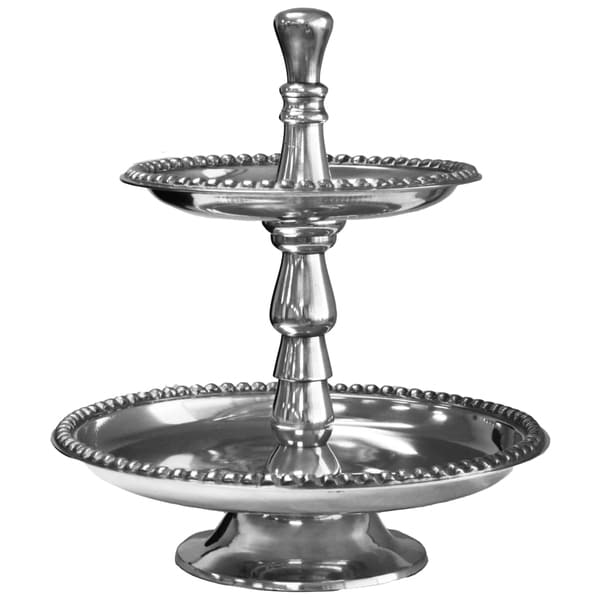 Casa Cortes Aluminum 2-Tier Hostess Tray