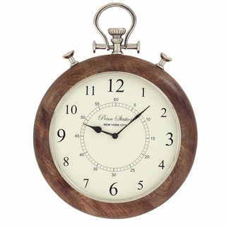 Casa Cortes Brentwood 15-inch Metal Pocket Watch Wall Clock