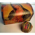 Our Lady of Guadalupe Painted Wood Chest and Jewelry Box Set (Mexico)
