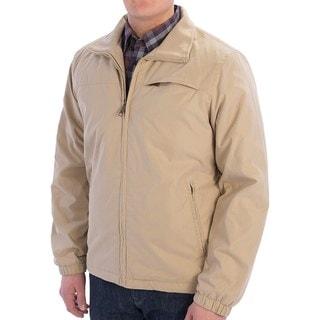 Joseph Abboud Men's Khaki Nylon Lightweight Bomber Jacket