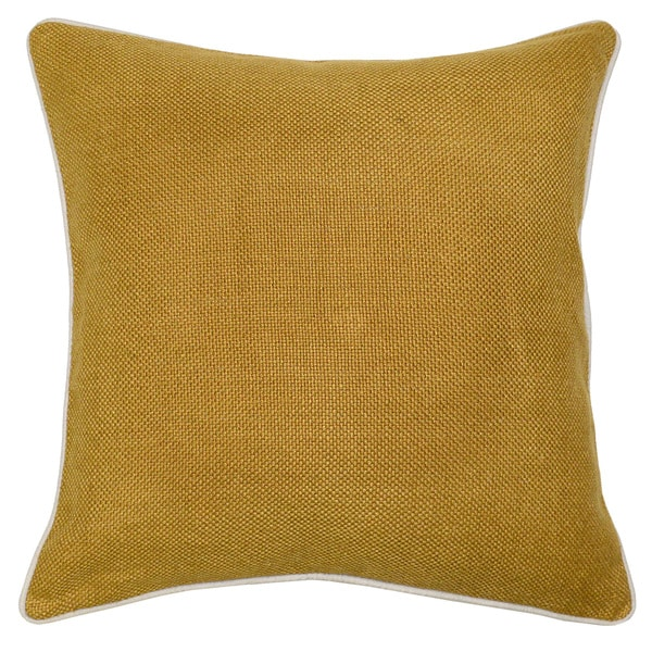 Quinn Mustard 22-inch Throw Pillow