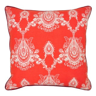 Kosas Home Cece Red 22-inch Throw Pillow