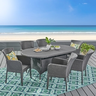 Christopher Knight Home Corsica Outdoor 7-piece Wicker Dining Set