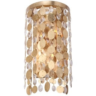 Crystorama Bella Collection 2-light Antique Gold Wall Sconce