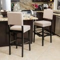 Christopher Knight Home Cameron Fabric Barstool (Set of 2)