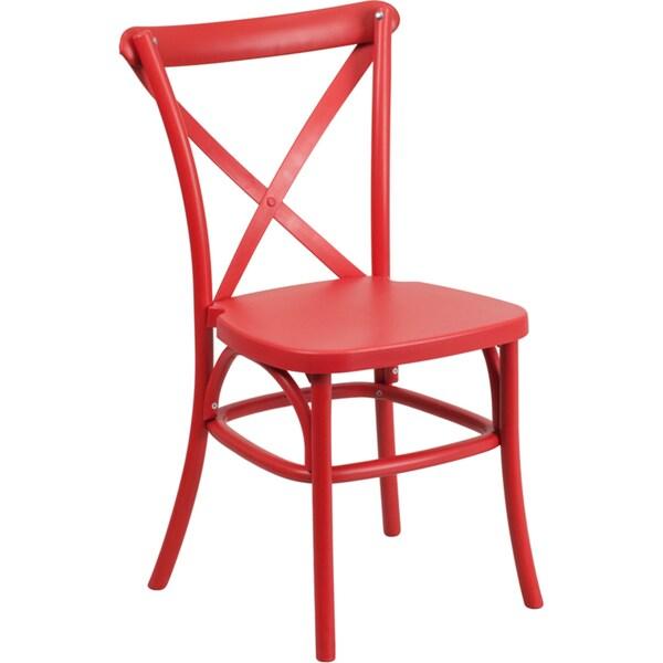 Resin Cross Back Chair