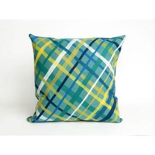 Plaid 20-inch Throw Pillow