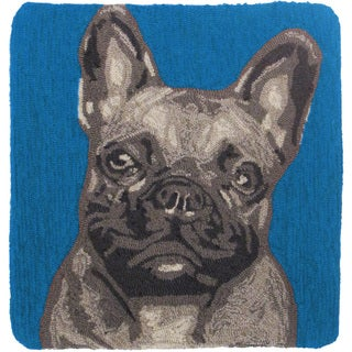Frenchie 20-inch Throw Pillow