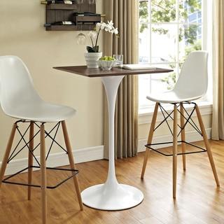 Lippa 28-inch Square Wood Top Bar Table
