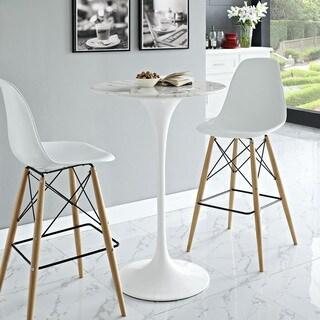 Lippa 28-inch Circular Marble Top Bar Table