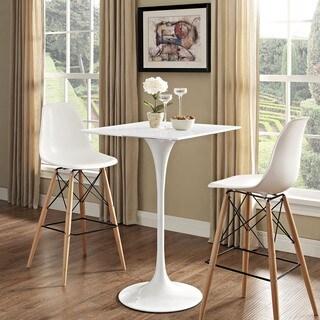 Lippa 28-inch White Square Top Bar Table