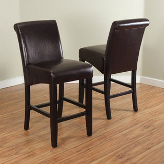 Milan Faux Leather Counter Stools (Set of 2)