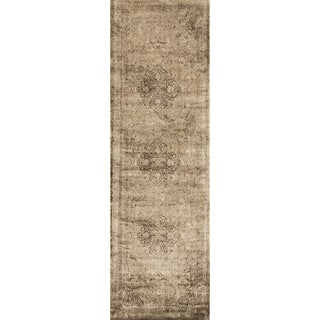 Francis Sand/ Dark Brown Runner Rug (2'4 x 7'9)