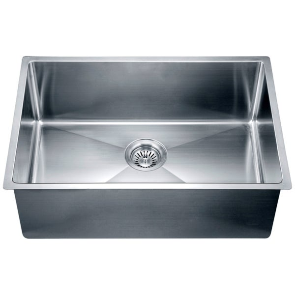 Undermount Corner Kitchen Sinks Stainless Steel : Dawn? Stainless Steel Undermount Small Corner Radius Single Bowl Sink ...