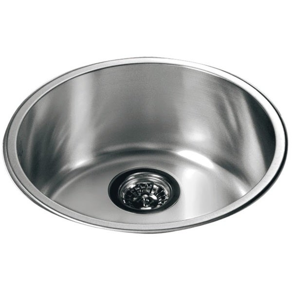 Dawn Stainless Steel Round Top Mount Single Bowl Bar Sink