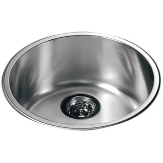 Dawn® Stainless Steel Round Top Mount Single Bowl Bar Sink